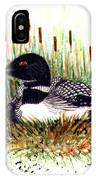 Loon And Baby Judy Filarecki Watercolor IPhone X Case