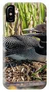 Loon On The Nest IPhone Case