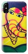 Lord Ganesh By  Sarada Tewari Acrylic Paint On Canvas 24x28inch IPhone Case
