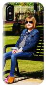Lorna On A Bench IPhone Case