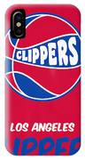 Los Angeles Clippers Vintage Basketball Art IPhone Case