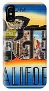 Los Angeles Vintage Travel Postcard Restored IPhone Case