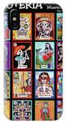 Loteria Dia De Los Muertos IPhone Case