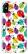 Lots Of Crayon Colored Ladybugs IPhone Case