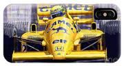 Lotus 99t Spa 1987 Ayrton Senna IPhone Case
