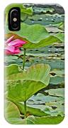 Lotus Blossom And Heron IPhone Case