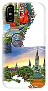 Louisiana Map - New Orleans IPhone Case