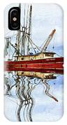 Louisiana Shrimp Boat 4 - Impasto IPhone Case