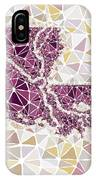 Louisiana State Map Geometric Abstract Pattern  IPhone Case