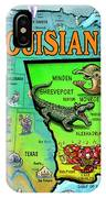 Louisiana Usa Cartoon Map IPhone Case
