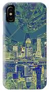 Louisville Kentucky Skyline Abstract 6 IPhone Case