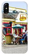 Loulou's On The Commercial Pier In Monterey-california IPhone Case