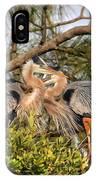 Love Birds - Great Blue Heron IPhone Case