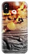 Love Bracelet On Wooden Vase IPhone Case