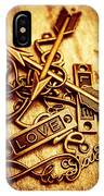 Love Charms In Romantic Signs And Symbols IPhone Case