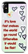 Love World Round Flat Red IPhone Case