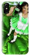Lovely Irish Girl With A Glass Of Green Beer IPhone Case