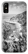 Lover's Cove Catalina Island Black And White Photo IPhone Case