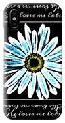 Loves Me In Blue IPhone Case