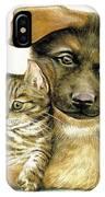 Loving Cat And Dog IPhone Case