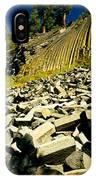 Low Angle View Of Devils Post Pile IPhone Case