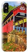 Lower Humbert Covered Bridge 2 - Paint IPhone Case