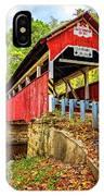 Lower Humbert Covered Bridge 2 IPhone Case