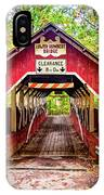 Lower Humbert Covered Bridge 5 IPhone Case