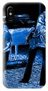 Ls #40 Enhanced In Blue IPhone Case