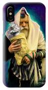Lubavitcher Rebbe With Torah IPhone Case