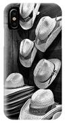 Luckenbach Hats Black And White IPhone Case