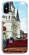 Lucky Dogs And St. Louis Cathedral IPhone Case