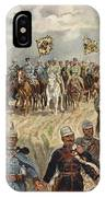 Ludwig Koch, Franz Josef I And Wilhelm II With Military Commanders During Wwi IPhone Case
