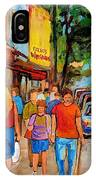 Lunchtime On Mainstreet IPhone Case