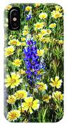Lupine Amidst Tidy Tips IPhone Case