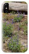 Lupines And A Log IPhone Case
