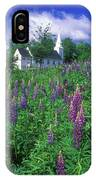 Lupines And Church Sugar Hill IPhone Case