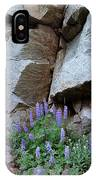 Lupines And Rock Face IPhone Case