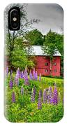 Lupines And The Red Barn IPhone Case