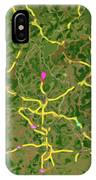Luxembourg Green Traffic Map, Abstract Europe Map IPhone Case