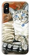 Lynx Point Siamese Cat Painting IPhone Case