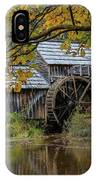 Mabry Mill In Fall 3 IPhone Case