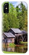 Mabry Mill In The Springtime On The Blue Ridge Parkway  IPhone X Case