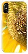 Macro Photography Of Sunflower IPhone Case