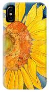Macro Sunflower Art IPhone Case