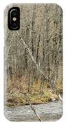 Madawaska Stream Bend IPhone Case