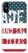 Made In Grand Saline, Texas IPhone Case