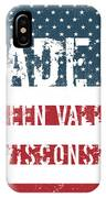 Made In Green Valley, Wisconsin IPhone Case