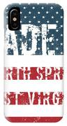 Made In North Spring, West Virginia IPhone Case