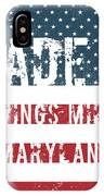 Made In Owings Mills, Maryland IPhone Case